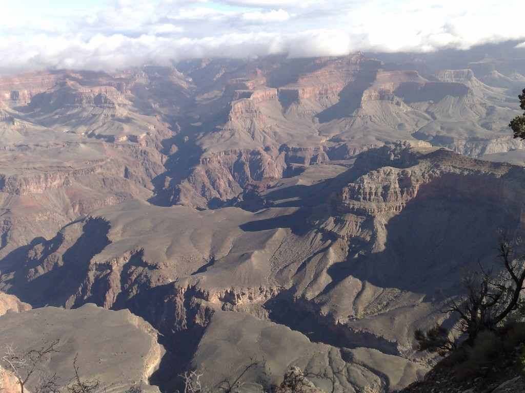 A view of the Grand Canyon South Rim