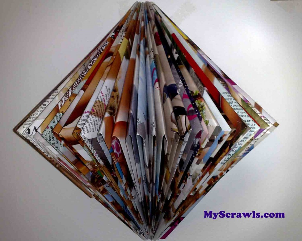Paper Craft using magazine