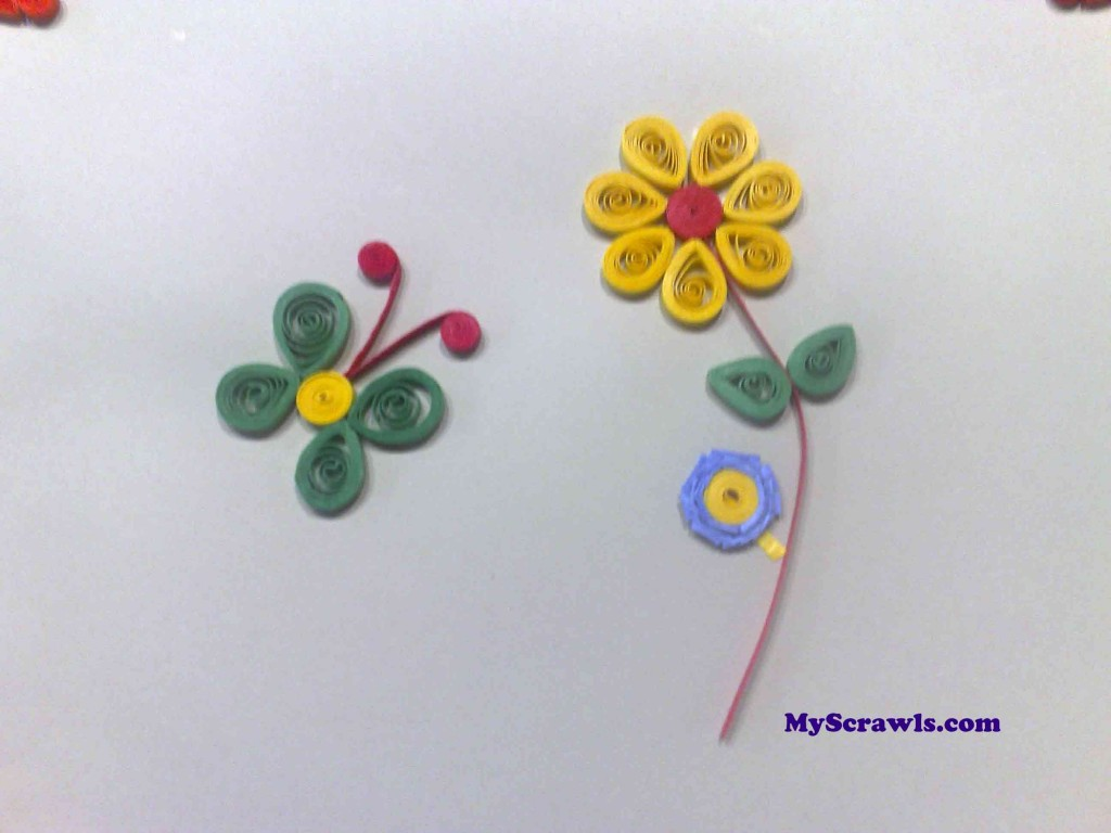 Quilled Flower and a butterfly