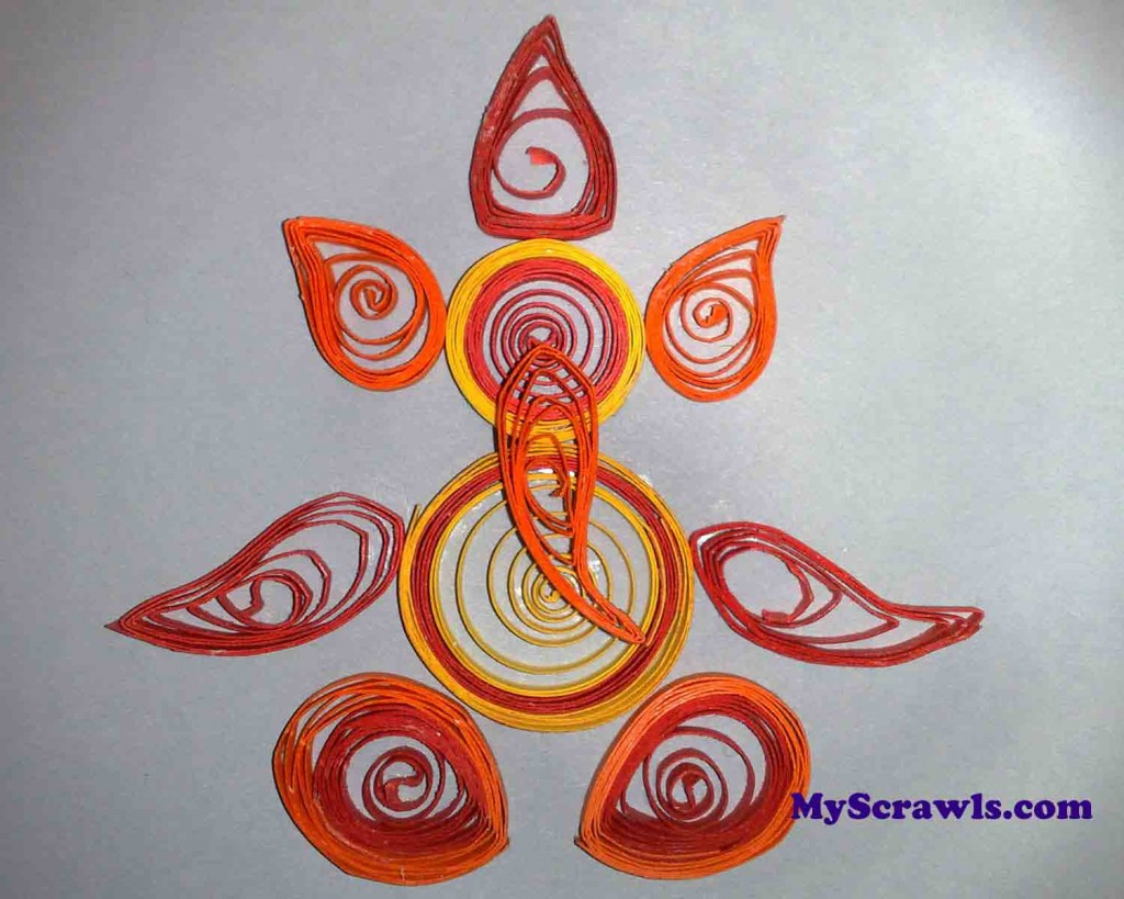Quilling Ganesh