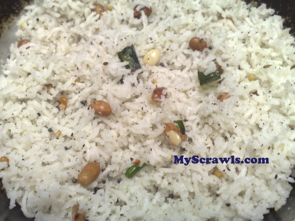 Thengai sadam | Coconut rice