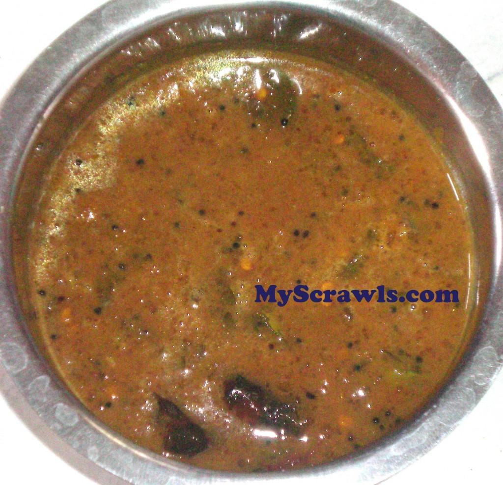 Pulikachal | Puliogare mix (Gojju)