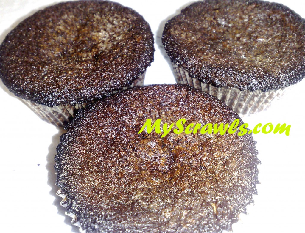 Eggless Chocolate Nuts Muffin