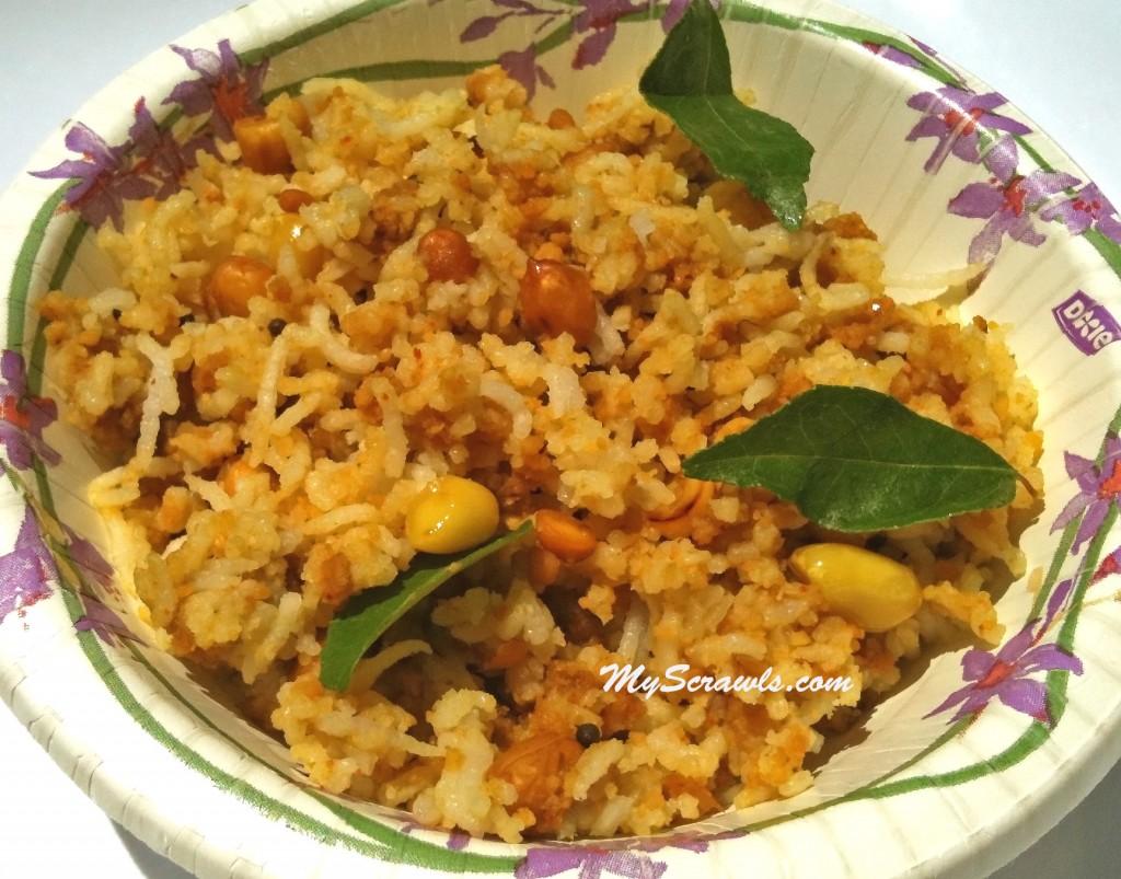 Puliyogare - Puli sadam - Tamarind rice