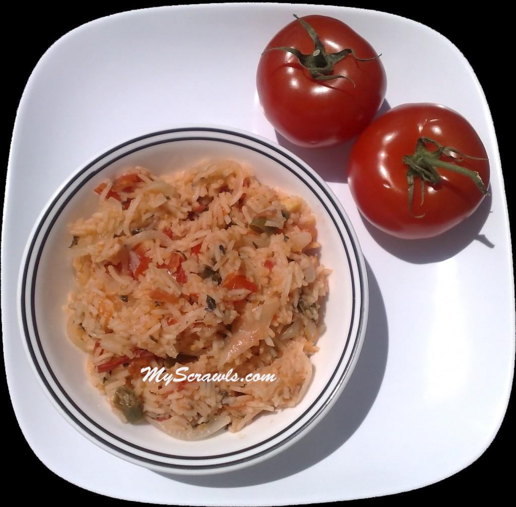 Tomato rice - Thakkali sadam