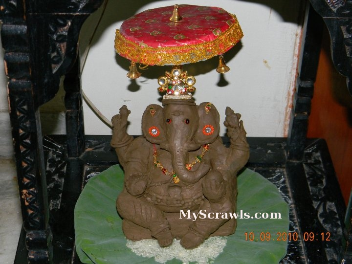 Eco friendly Ganesha made with clay