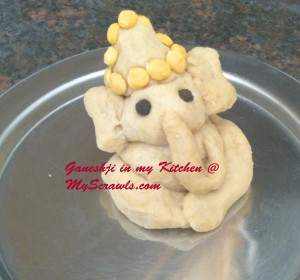 Eco friendly Ganesh with wheat flour