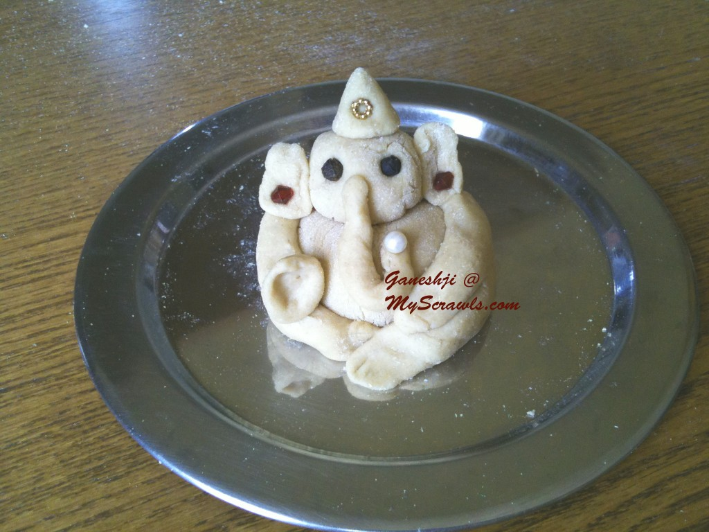 Ganeshji ready for the Pooja