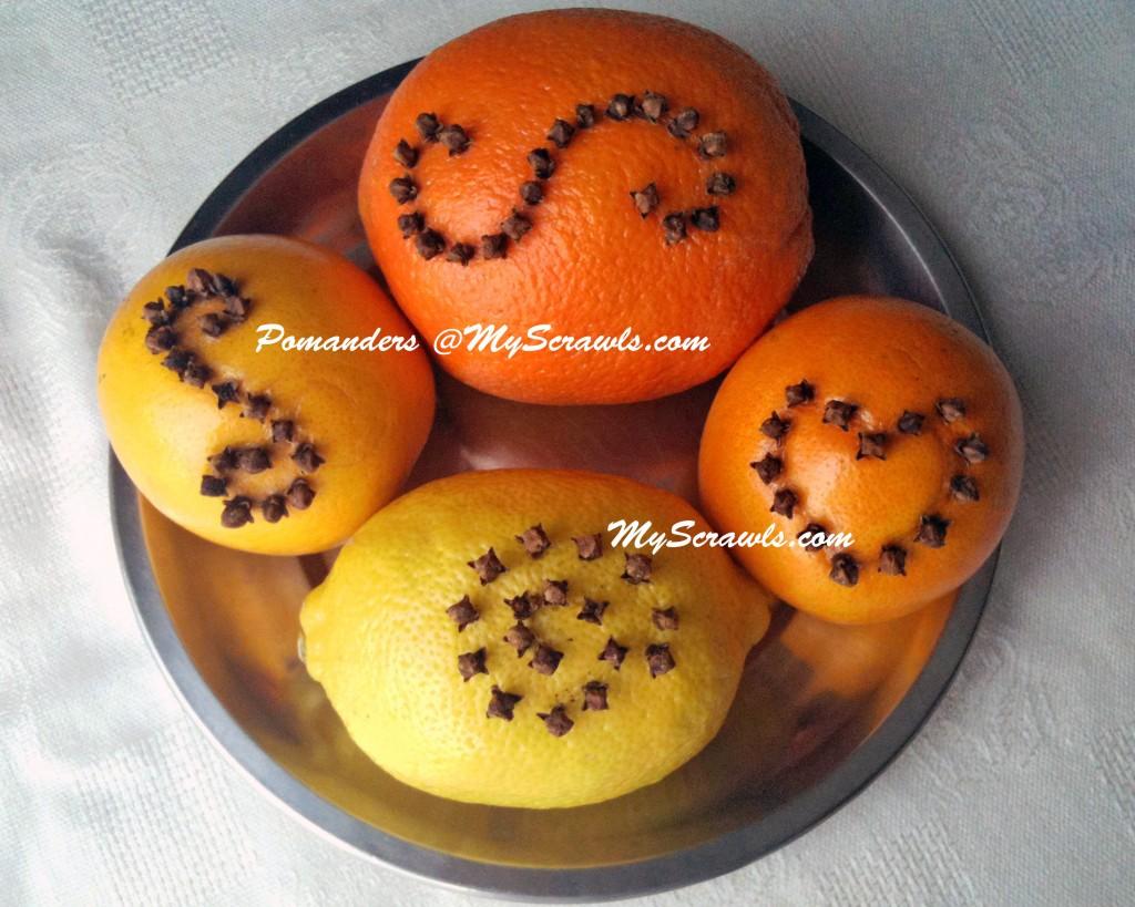 Pomander orange my scrawls