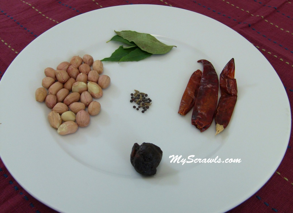 Ingredients for peanut chutney
