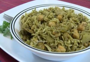 Pudina Pulao - Mint Rice