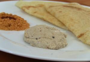 Verkadalai chutney with dosai