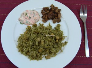 Pudina rice with raita