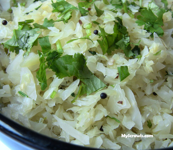 Cabbage Curry | Cabbage Poriyal