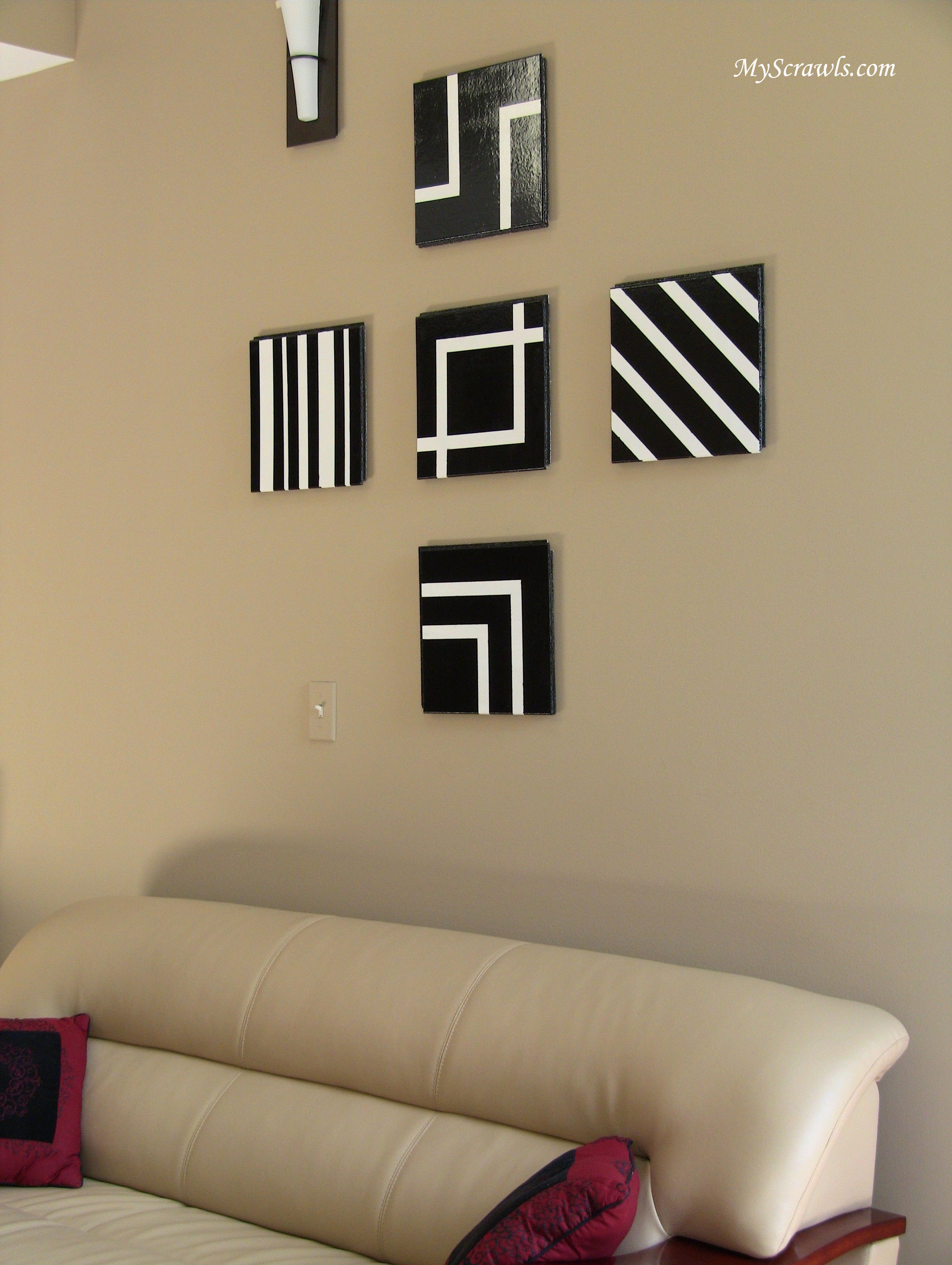 Wall art decor my scrawls - Apartment wall decorating ideas ...
