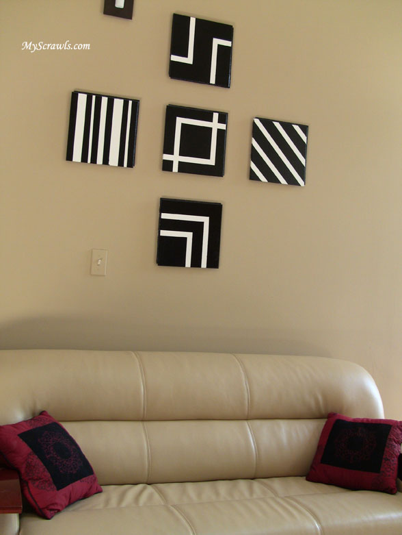 Simple wall hanging craft