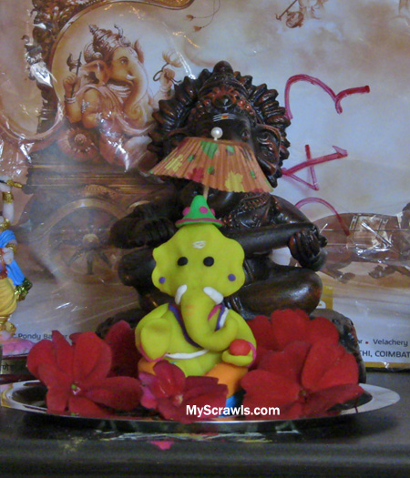 Eco friendly Ganesh with Play-doh