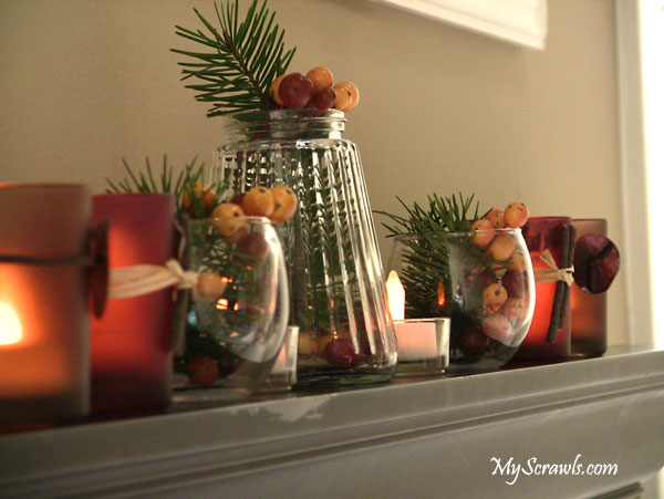 Simple and Elegant winter centerpiece