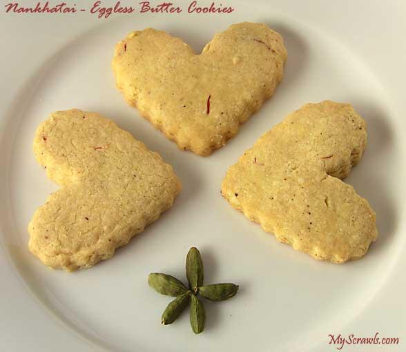 Nan Khatai - eggless butter cookies